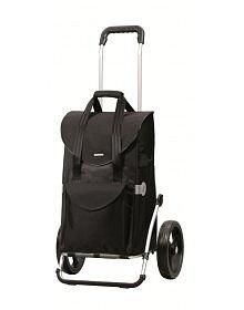 Nákupní taška Andersen ROYAL SHOPPER® SENTA, černá, kolečka nafukovací