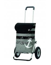 Andersen ROYAL SHOPPER® MEER, černá, nafukovací kolečka s kuličkovými ložisky