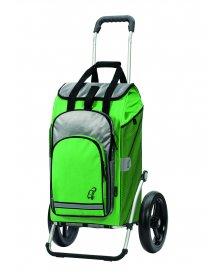 Taška na kolečkách Andersen ROYAL SHOPPER® HYDRO, zelená, kolečko s kul. ložisky, průměr 29 cm
