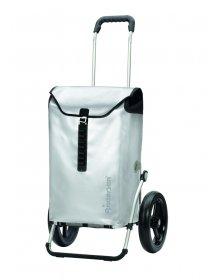 Taška na kolečkách Andersen ROYAL SHOPPER® ORTLIEB, stříbrná, kolečko s kul. ložisky, průměr 29 cm
