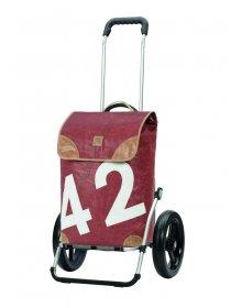 Nákupní taška Andersen ROYAL SHOPPER® 360° LEE 42, hnědá, kolečko s kul. ložisky, průměr 29 cm