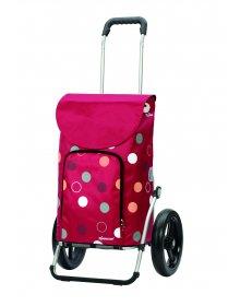 Taška na kolečkách Andersen ROYAL SHOPPER® KIRA, červená, kolečko s kul. ložisky, průměr 29 cm