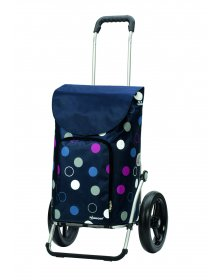 Taška na kolečkách Andersen ROYAL SHOPPER® KIRA, modrá, kolečko s kul. ložisky, průměr 29 cm