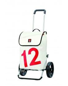 Luxusní taška na kolečkách Andersen ROYAL SHOPPER® 360° LUV 12, kolečko standard, bílá, 40l