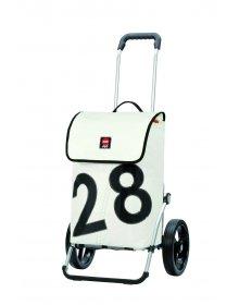 Luxusní taška na kolečkách Andersen ROYAL SHOPPER® 360° LUV 28, kolečko standard, bílá, 40l