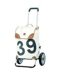 Nákupní taška Andersen ROYAL SHOPPER® 360° LEE 39, bílá, kolečko s kul. ložisky