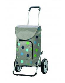 Taška na kolečkách Andersen ROYAL SHOPPER® KIRA, světle šedá, kolečko s kul. ložisky