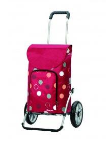 Taška na kolečkách Andersen ROYAL SHOPPER® KIRA, červená, kolečko s kul. ložisky