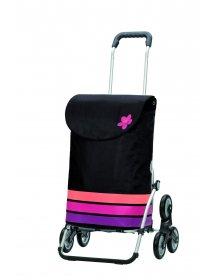 Nákupní taška Andersen TREPPENSTEIGER ROYAL SHOPPER® BLOM - DO SCHODŮ, růžová