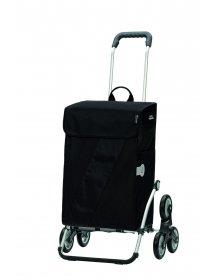 Nákupní taška Andersen TREPPENSTEIGER ROYAL SHOPPER® VIKA - DO SCHODŮ, černá