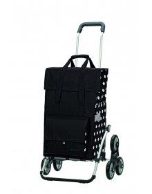 Nákupní taška Andersen TREPPENSTEIGER ROYAL SHOPPER® GERRY - DO SCHODŮ, černá