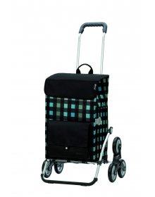 Nákupní taška Andersen TREPPENSTEIGER ROYAL SHOPPER® RIVA - DO SCHODŮ, černá