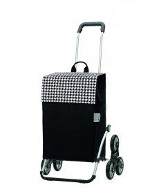 Nákupní taška Andersen TREPPENSTEIGER ROYAL SHOPPER® IKO - DO SCHODŮ, černá