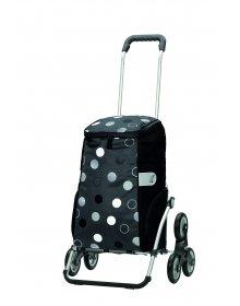 Nákupní taška Andersen TREPPENSTEIGER ROYAL SHOPPER® SILA - DO SCHODŮ, šedá