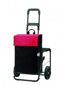 Nákupní taška se sedátkem Andersen KOMFORT SHOPPER® HERA, červená