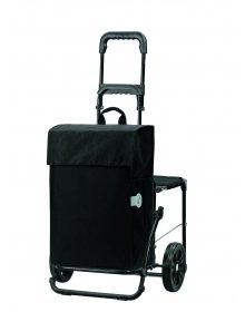 Nákupní taška se sedátkem Andersen KOMFORT SHOPPER® HERA, tmavě šedá