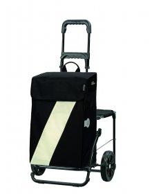 Nákupní taška se sedátkem Andersen KOMFORT SHOPPER® VIKA, bílá