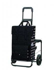 Nákupní taška se sedátkem Andersen KOMFORT SHOPPER® GERRY, černá