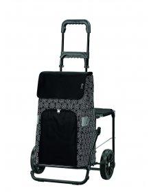 Nákupní taška na kolečkách se sedátkem Andersen KOMFORT SHOPPER® HENNI, černá
