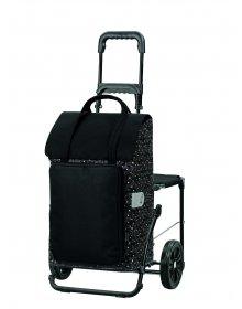 Nákupní taška na kolečkách se sedátkem Andersen KOMFORT SHOPPER® MIMI, zlatá