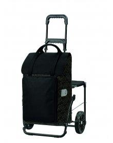 Nákupní taška na kolečkách se sedátkem Andersen KOMFORT SHOPPER® MIMI, černá
