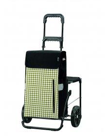Nákupní taška na kolečkách se sedátkem Andersen KOMFORT SHOPPER® TILLY, zelená