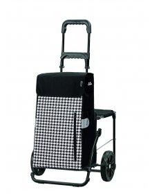 Taška na kolečkách se sedátkem Andersen KOMFORT SHOPPER® TILLY, černá