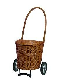 Nákupní koš - taška na kolečkách ANDERSEN KORB SHOPPER® NATURA, tmavý