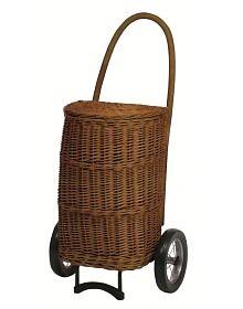 Nákupní košík - taška na kolečkách ANDERSEN KORB SHOPPER® NATURA XXL terra, s látkou uvnitř