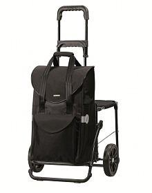 Nákupní taška se sedátkem Andersen KOMFORT SHOPPER® SENTA, černá