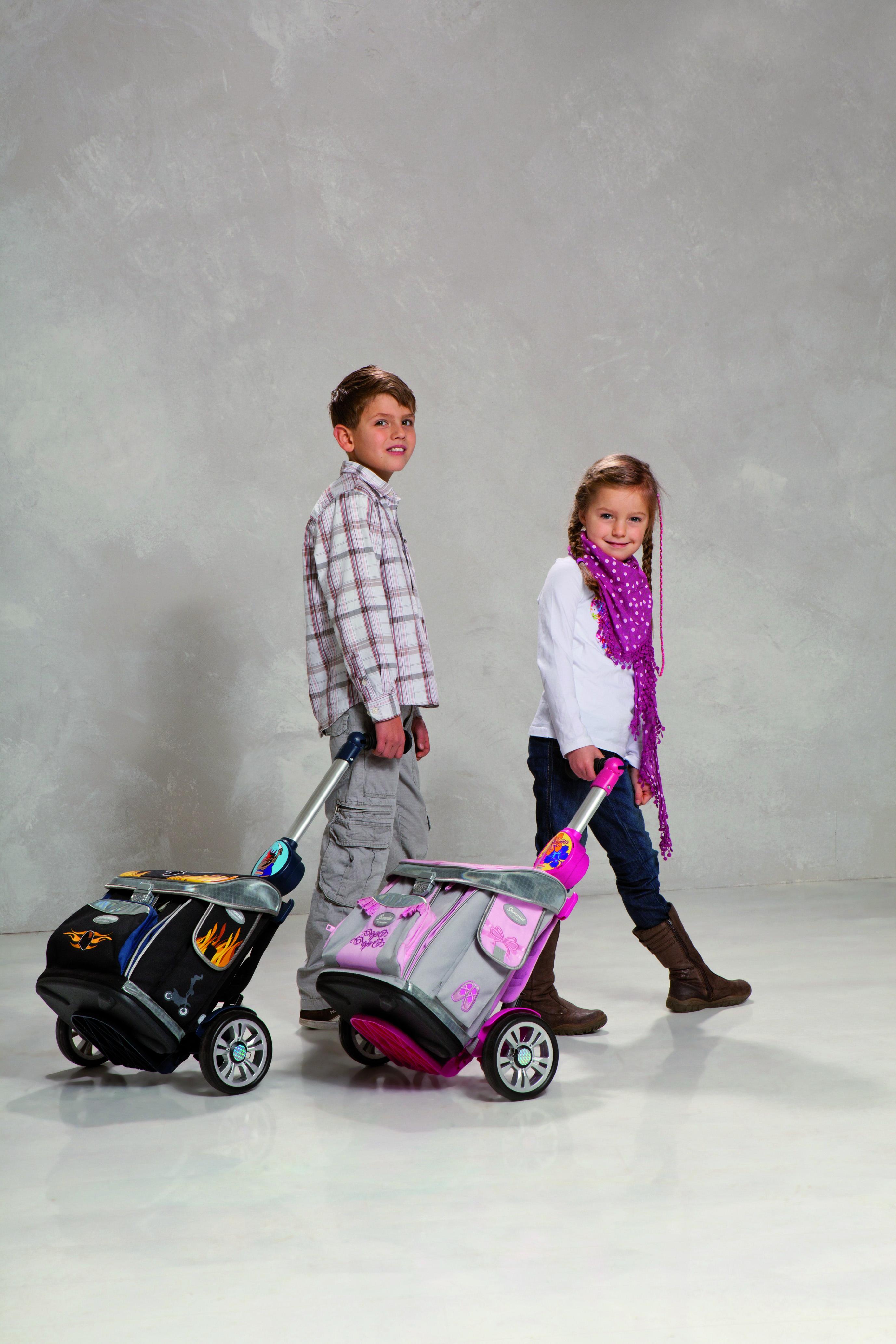 newschool SHOPPER®  ALUMINIUM - školní vozíky na kolečkách