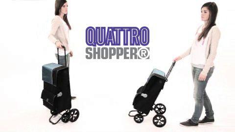 QUATTRO SHOPPER® - nákupní taška se čtyřmi kolečky