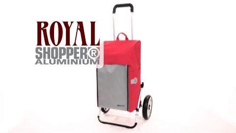 ROYAL SHOPPER® - velká nákupní taška s kolečky s ocelovými dráty