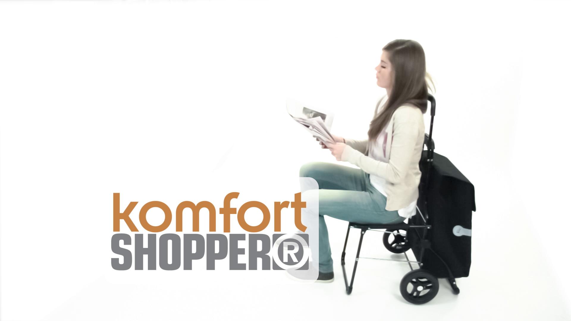 KOMFORT SHOPPER® - nákupní taška se sedátkem